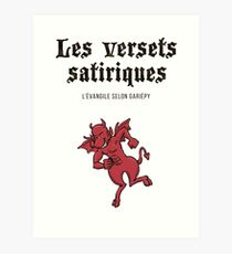 The satirical verses - Devil Art Print