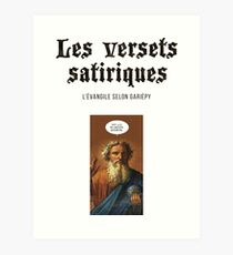 The satirical verses - God Art Print