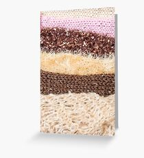 Knit layers Greeting Card