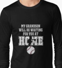 eb410e0d Baseball Catcher Products: My Grandson will be Waiting for You At Home Long  Sleeve T