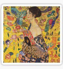 Gustav Klimt - Lady With Fan 1918 Sticker