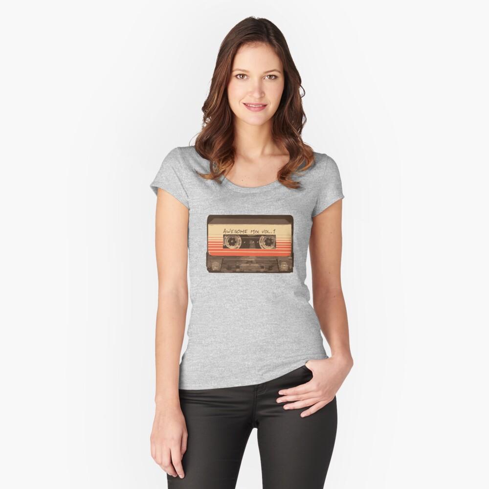 Galaktischer Soundtrack Tailliertes Rundhals-Shirt