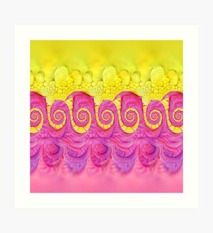 Yellow and Pink Art Print