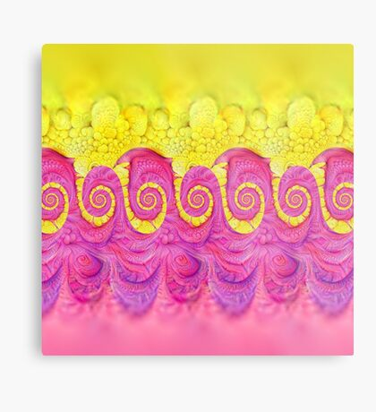Yellow and Pink Metal Print