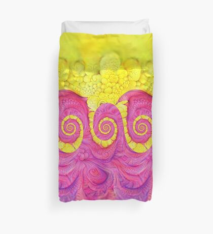 Yellow and Pink Duvet Cover