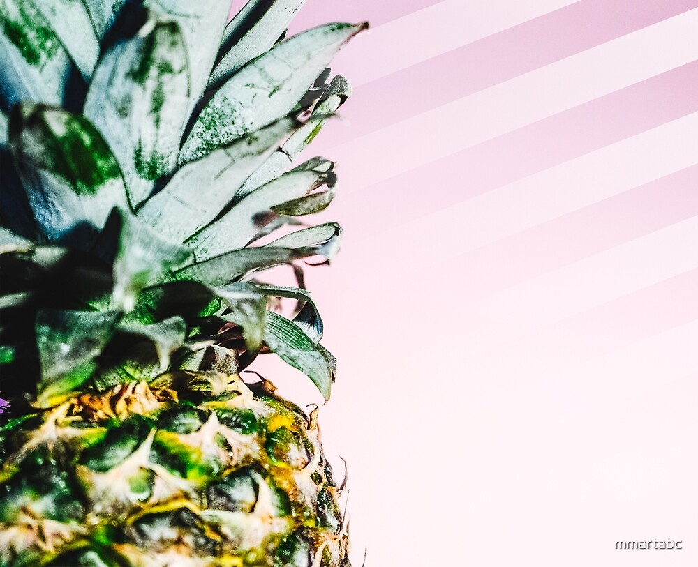 Pineapple pink background by mmartabc
