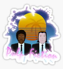 80s Inspired Pulp Fiction Sticker