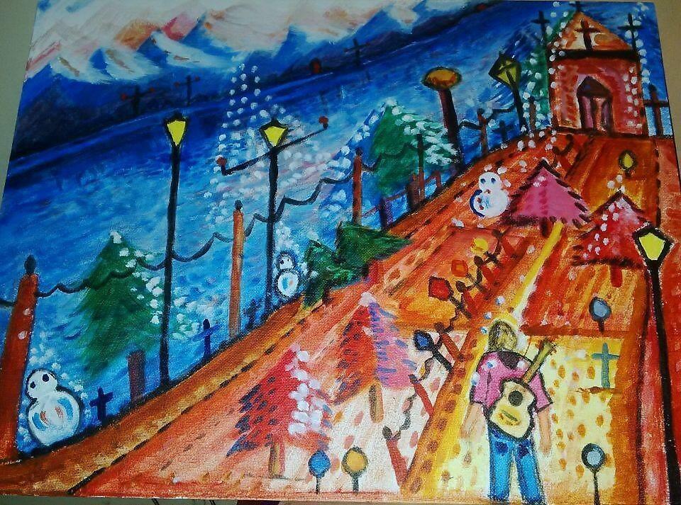 Dreamland L'ART Canvas 14 X 18 Abstract by SEBASTIAN5