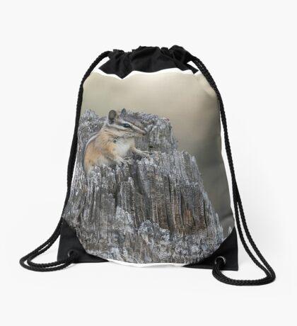 The chipmunk's domain Drawstring Bag