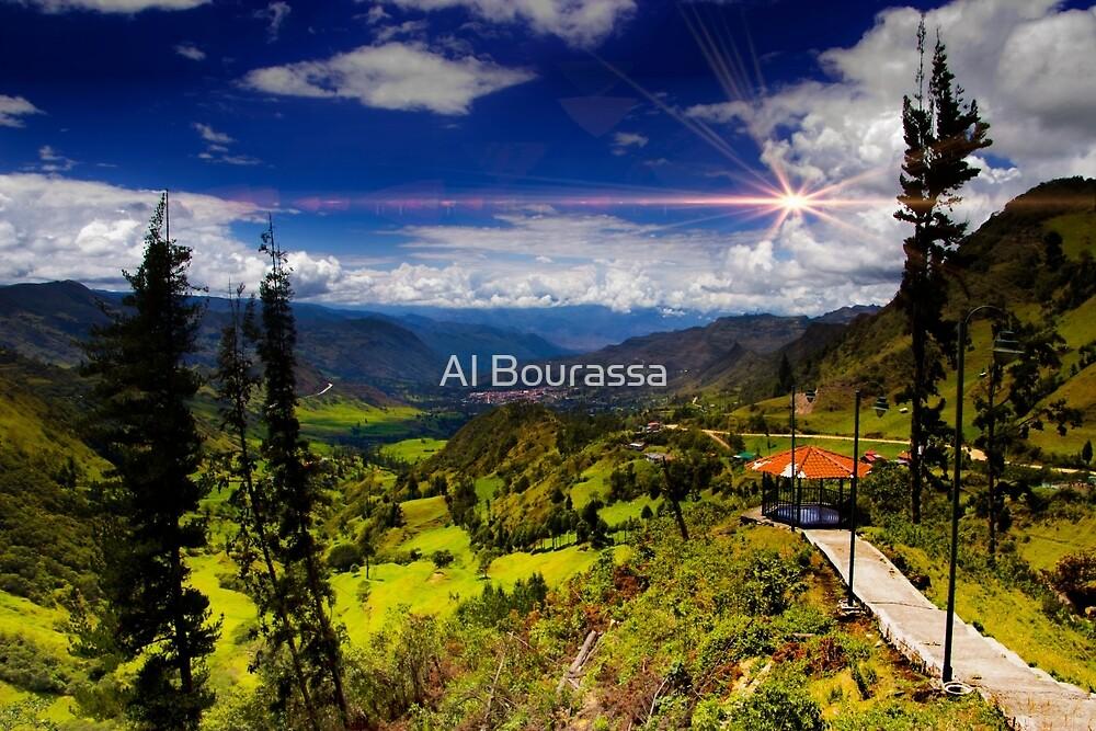 View Of Giron Valley From Portete II by Al Bourassa
