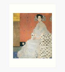 Gustav Klimt - Portrait Of Fritza Riedler 1906 Art Print