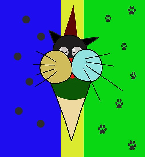 Ice cream cat  by ValentinaHramov