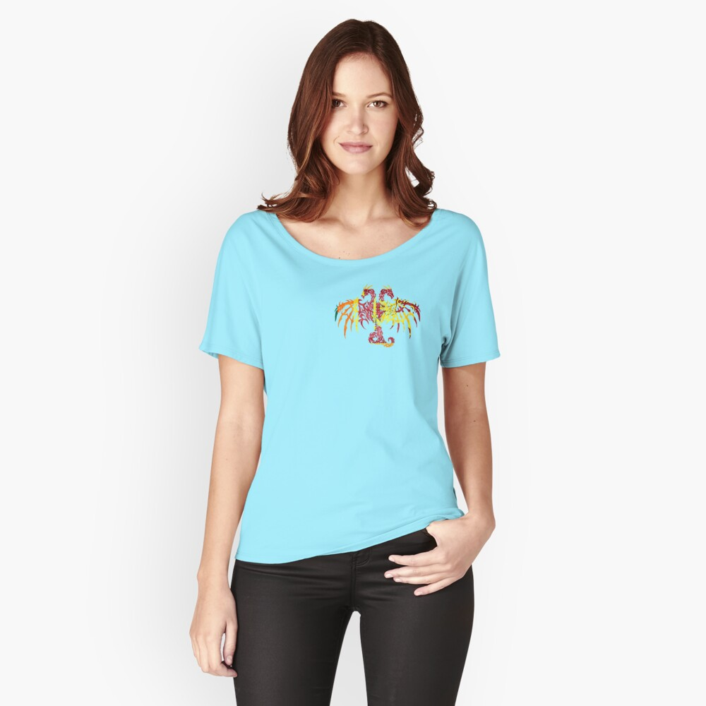 SRI LANKA 2 HEADED DRAGON FLAG Women's Relaxed Fit T-Shirt Front