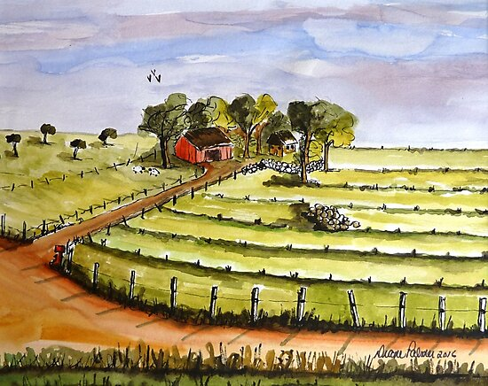 Country Farm by DianePalmerArt