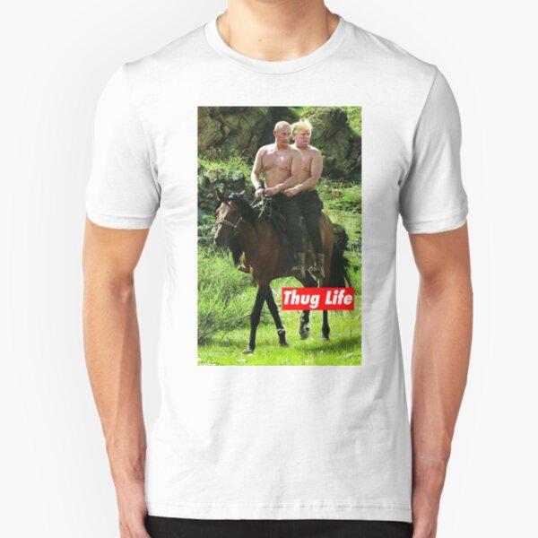 Gangster Leben Slim Fit T-Shirt
