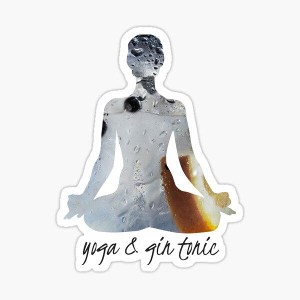 Yoga and Gin Tonic Sticker