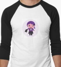 Little emo girl drawing - vintage purple style character T-Shirt
