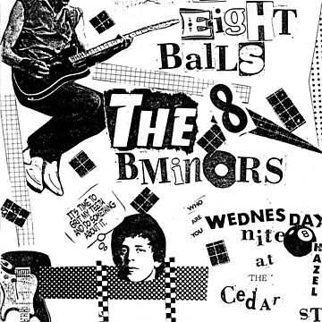 Cedar Lounge, Youngstown, Ohio, 1981. Poster 2: B-Minors, 8-Balls by MetroStore