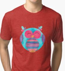 Maya the happy striped owl Tri-blend T-Shirt