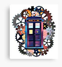 Colorful TARDIS Art Canvas Print
