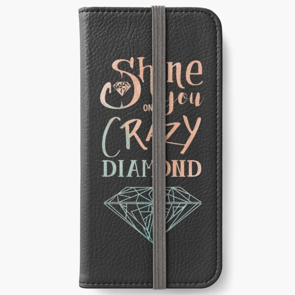 Shine on you crazy diamond - Watercolor iPhone Wallet