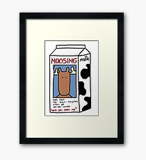 Mooseing Person Framed Print