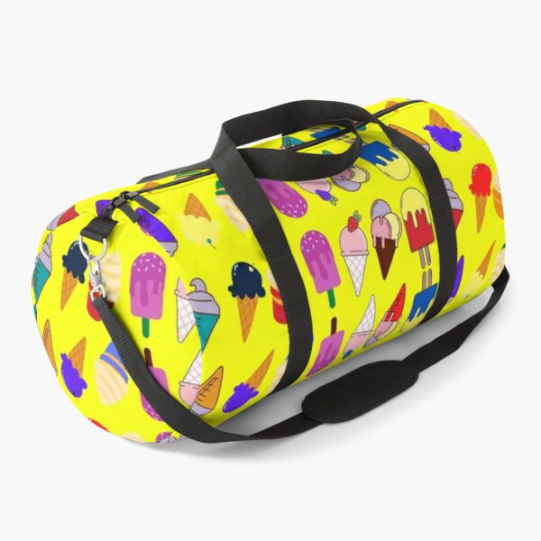 Ice Cream Flavour Yellow Background Duffle Bag