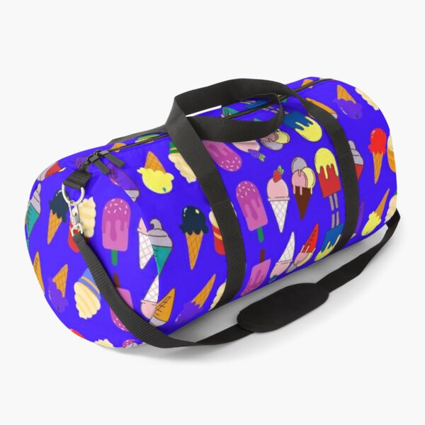 Ice Cream Flavour Blue Background Duffle Bag