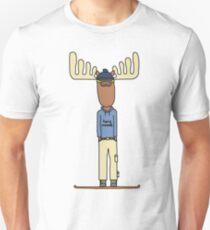 hang moose snowboarder Unisex T-Shirt