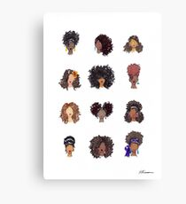 How To Be Curly Canvas Print