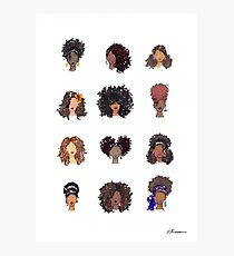 How To Be Curly Photographic Print
