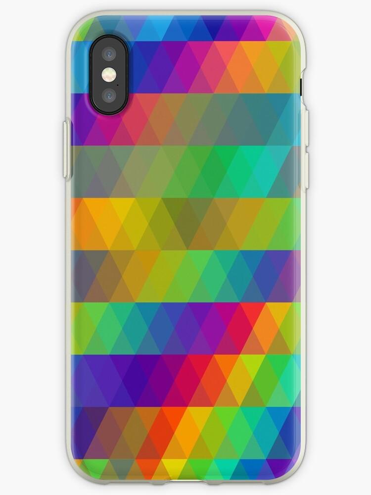 Rainbow Triangle Mosaic Pattern by Caroline Leskiw
