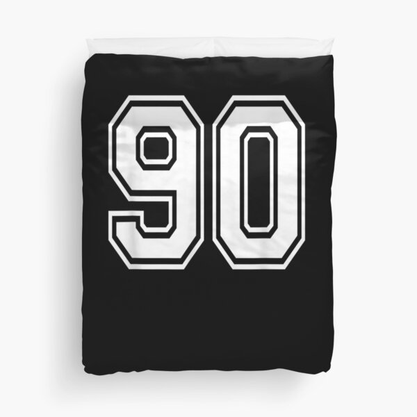 Number 90 Numbered Uniform Sports Jersey Team 90th Birthday  Duvet Cover