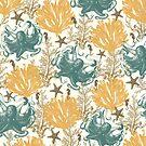 Aquatic Pattern - Endless Summer by Paula Belle Flores
