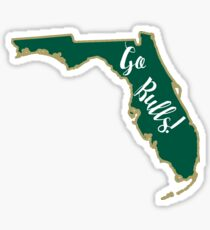 USF Bulls Florida Outline Sticker