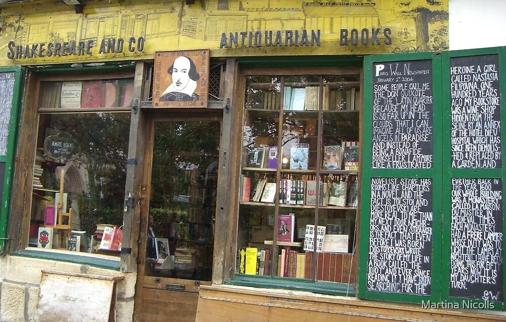 Shakespeare Bookstore, Paris by Martina Nicolls