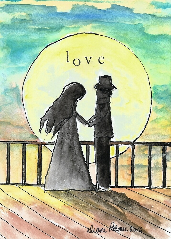 Love by the Moon by DianePalmerArt