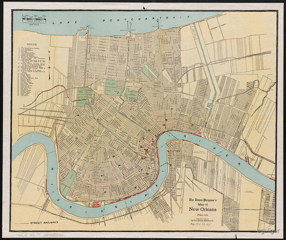 New Orleans Map by agaliger