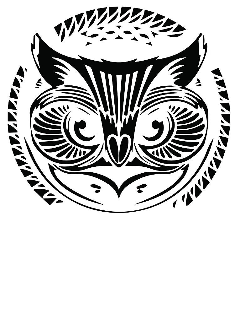 Tribal Owl Design by OCJoe