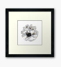 Flight of the Witch Bunnies Framed Print