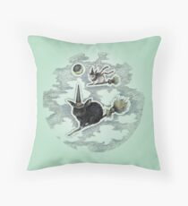 Flight of the Witch Bunnies Throw Pillow