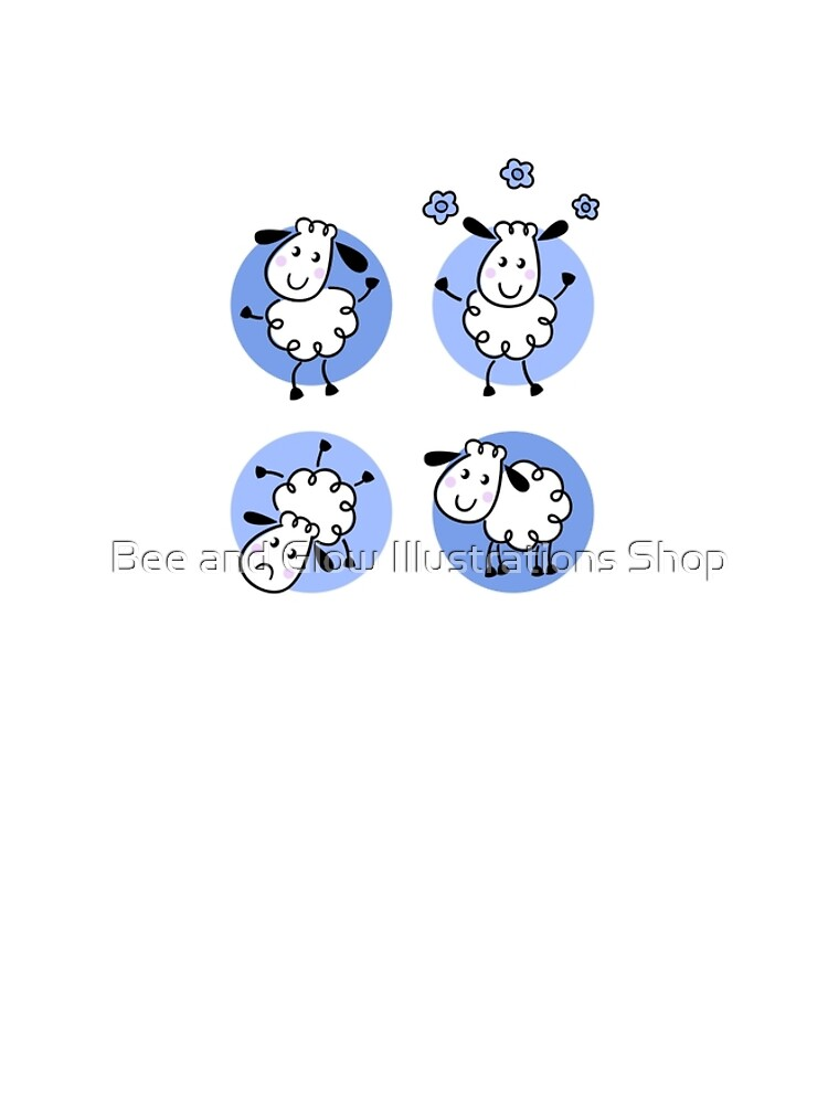 Happy doodle sheep set : nice little sheeps Original designers Edition by wellnessSisters