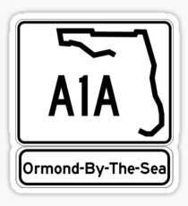 A1A - Ormond-By-The-Sea Sticker