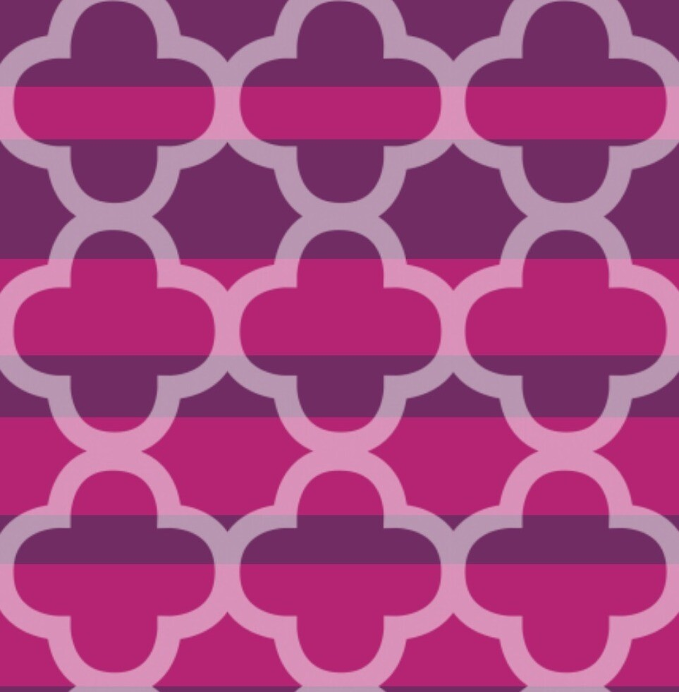 Plum/Raspberry Quatrefoil by Nicki harvey