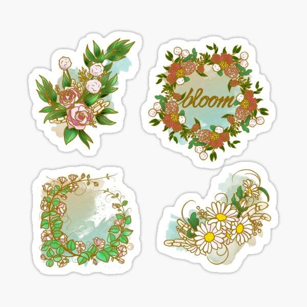 """""""Bloom"""" Boho Flowers Sticker"""