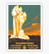 Yellowstone National Park ~ Old Faithful Vintage Decal Sticker