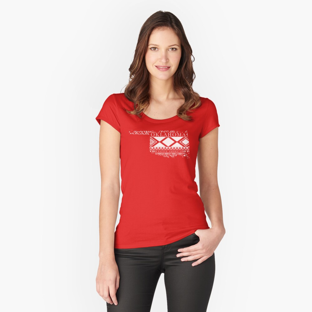 Native America_OK Women's Fitted Scoop T-Shirt Front