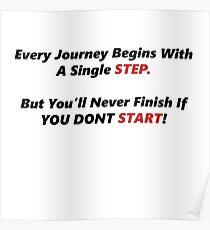 Just Start, Motivation Poster