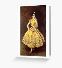 John Singer Sargent  - La Carmencita  Greeting Card