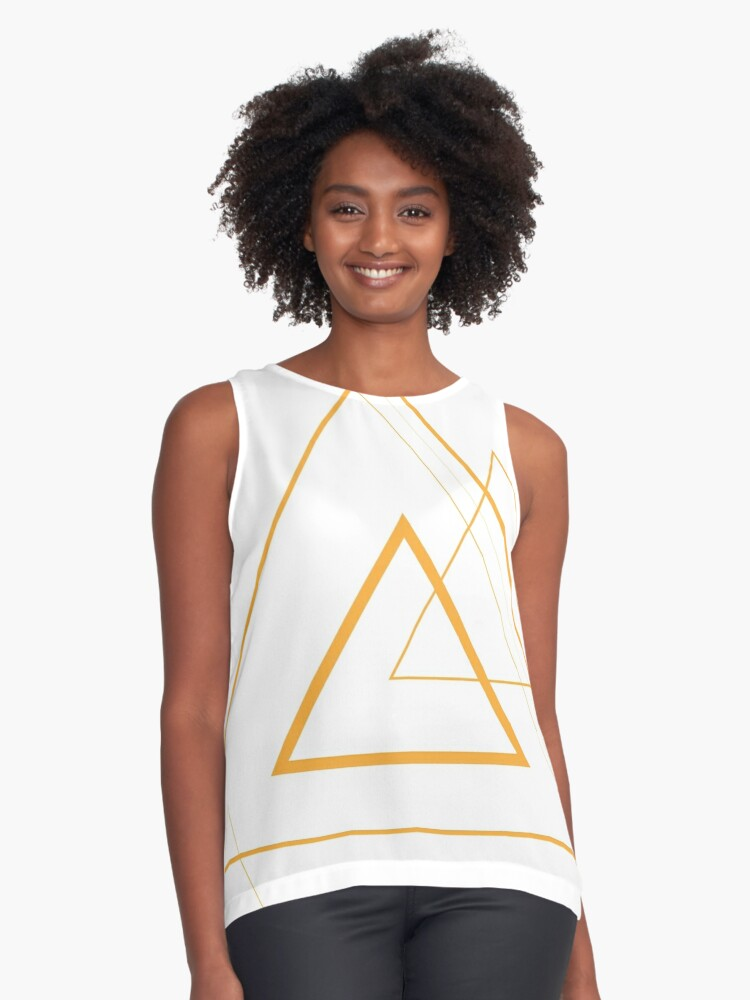 Geometric Triangles Contrast Tank Front